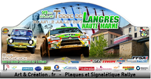Plaque du Rallye LANGRES 2017 site